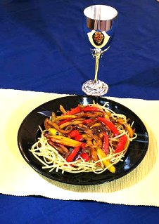 Pasta with Peppers - click for recipe